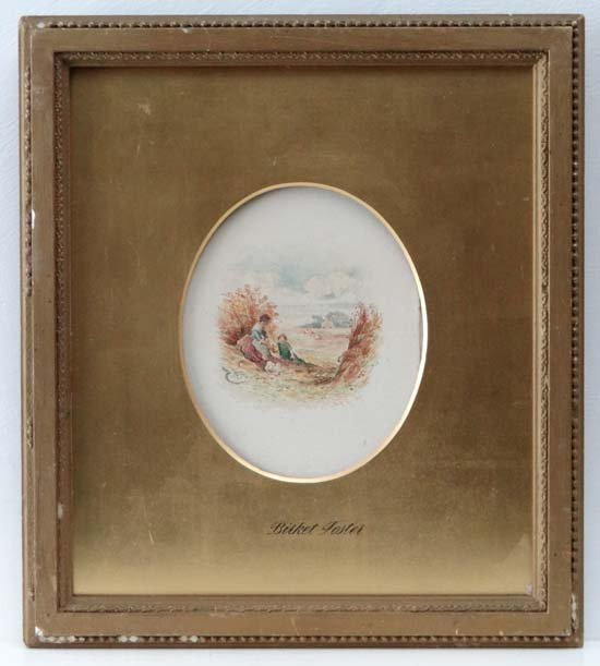 Manner Of Myles Birket Foster Watercolour, an oval