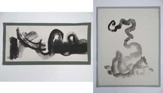 Edmond Kapp ( 1890-1978) Pen ink and watercolour, x 2