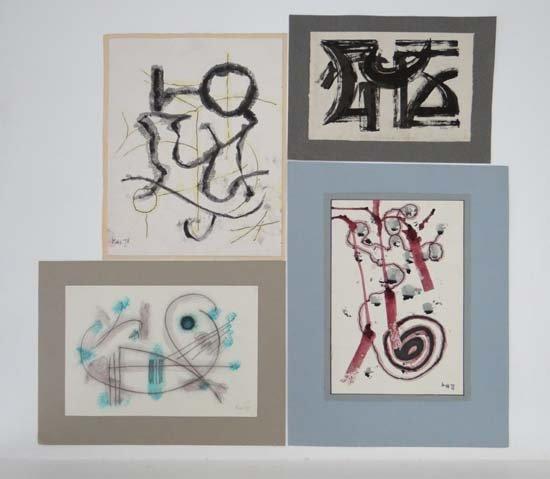Edmond Kapp ( 1890-1978) Pen ink and watercolour, x 4