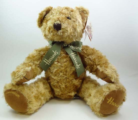A 100th anniversary Harrods teddy bear issued to mark