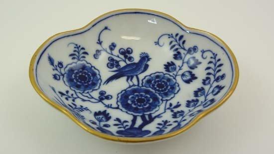 A Meissen Quatrefoil Dish Decorated In Underglaze Blue