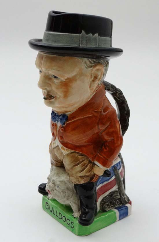 A  Rare Burleigh ware pottery Toby jug moulded as Winst