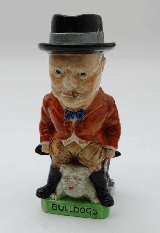 A  Rare Burleigh ware pottery Toby jug moulded as Winst - 2