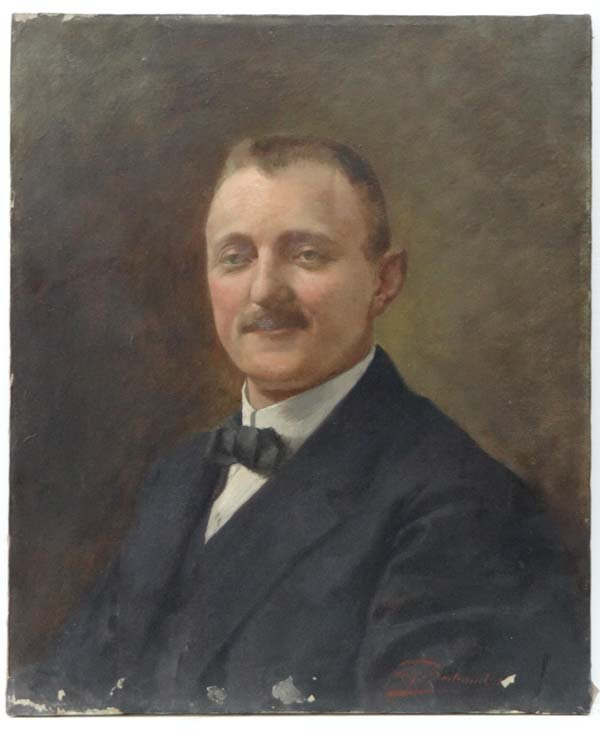 Auguste Bertrand  French 1912  Oil on canvas Portrait