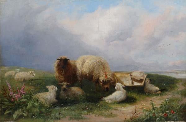 Attrib. to Thomas Sidney Cooper (1803-1902) Oil on