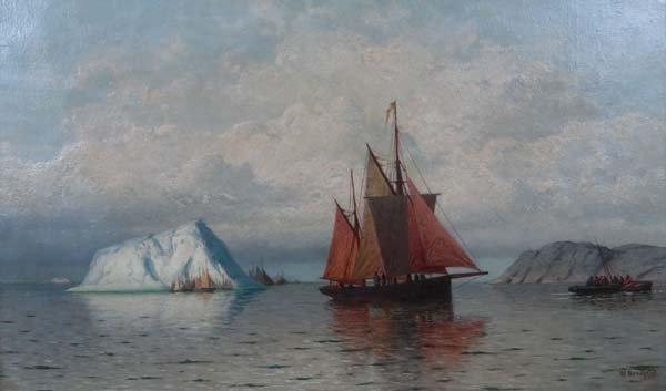 William Bradford ( 1823 -  1892) American , Romanticist