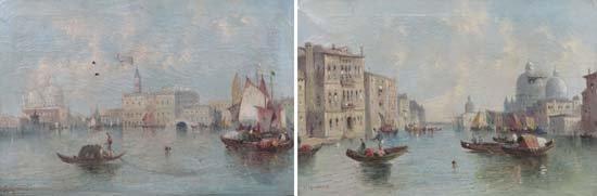 William G Meadows (1825-1901) Venetian School Oil on ca