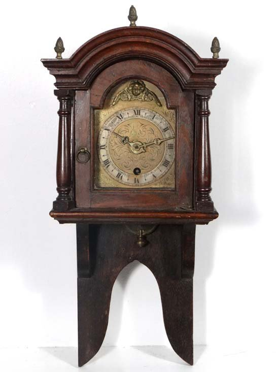 Small hooded wall clock c.1880 : An interesting and unu
