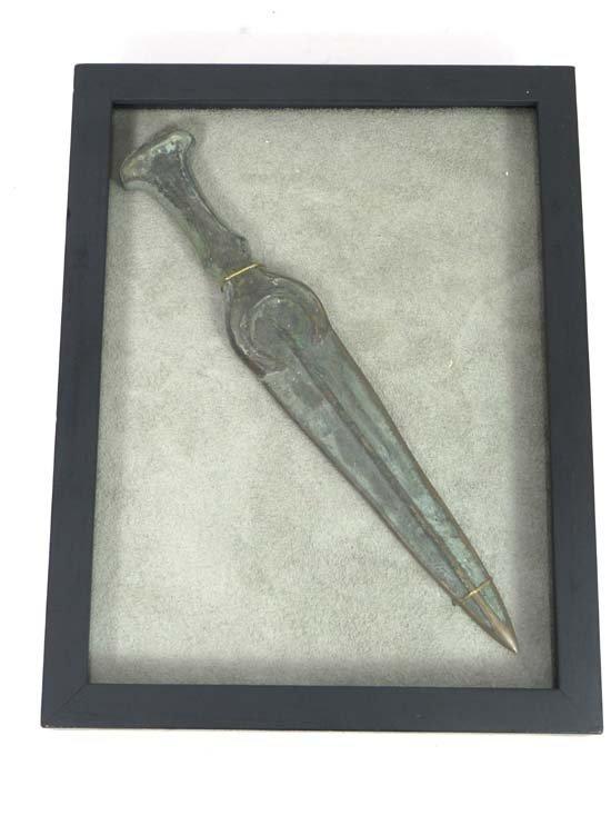 Dagger : A Luristan bronze dagger, c1200-1500 BC. Raise