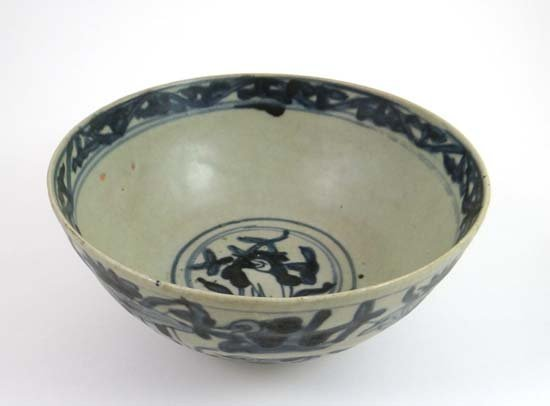 A Chinese Ming Dynasty blue and white bowl from from th