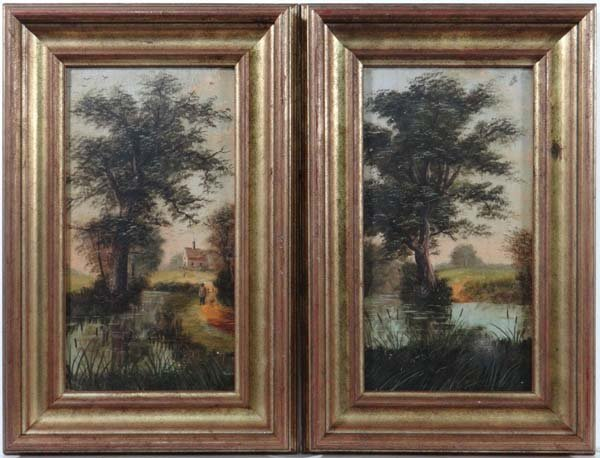 D Norman XIX / XX Oil on board, a pair English Country
