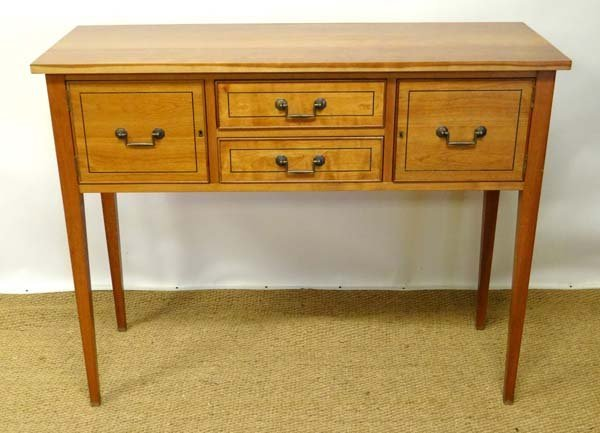 A Contemporary Cherry Hunt board ( narrow sideboard) wi