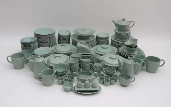 A large quantity of Woods ware Green Beryl dinner / tea
