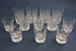 A quantity of assorted Webbs etc crystal and glass ware