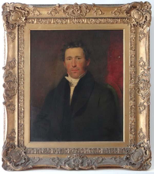 XIX Scottish School Oil on canvas in ornate gilt frame