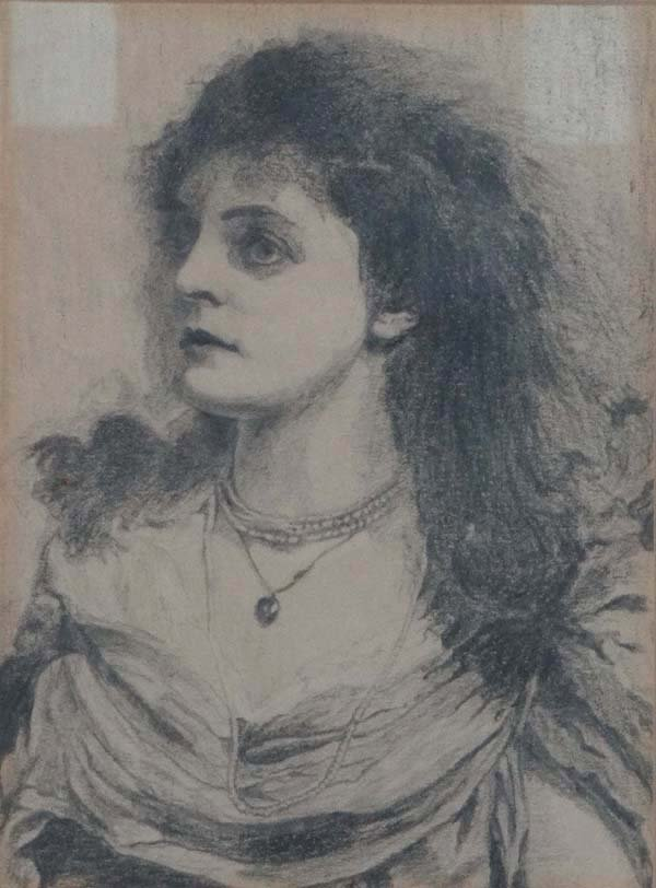G Waller c. 1917 Pencil drawing Portrait of a woman Bea