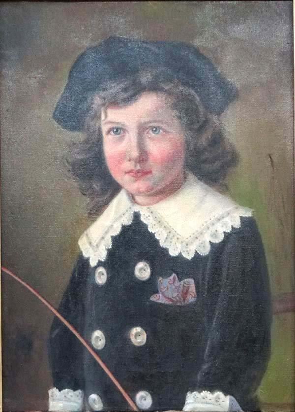 K Gehr? XIX Oil on canvas Portrait of a Victorian child