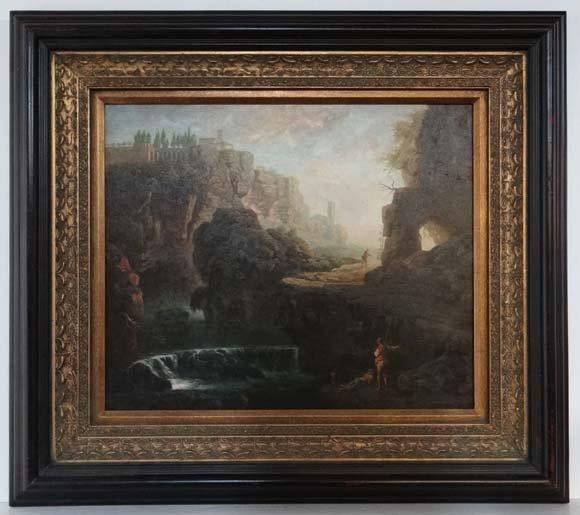 XX Italian Romantic School Oil on canvas 18thC style fi