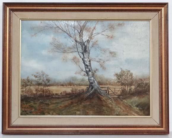 B England XX Oil on canvas ' Tree near Hartwell ' North