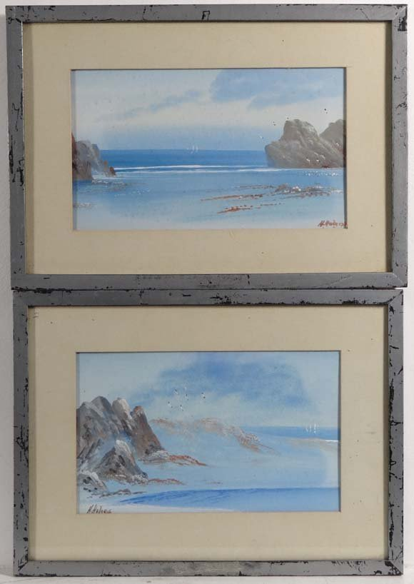 H Holness XX Pair of gouaches Looking out to see via ro