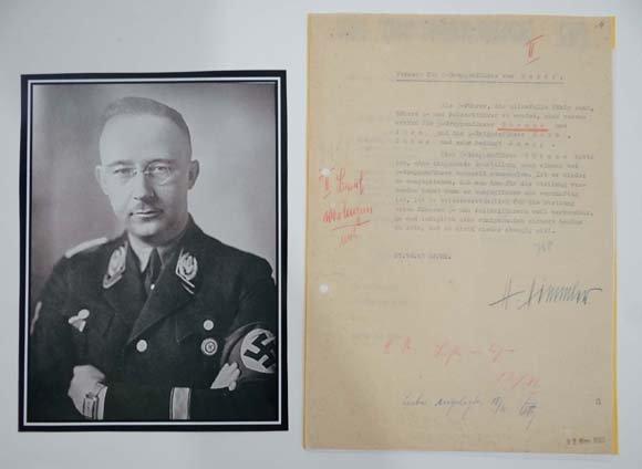 German Third Reich WWII Military Autograph : ' Heinrich