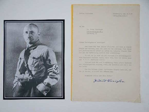 German Third Reich WWII Autograph : ' Julius Streicher