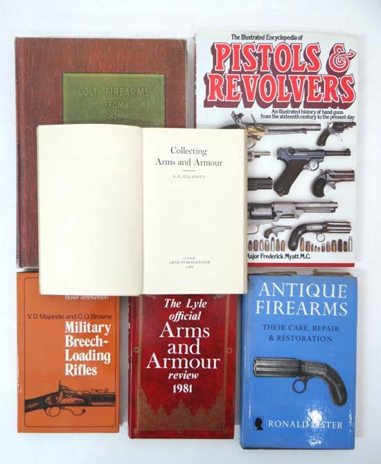 Books : Six books on arms and armour including James E