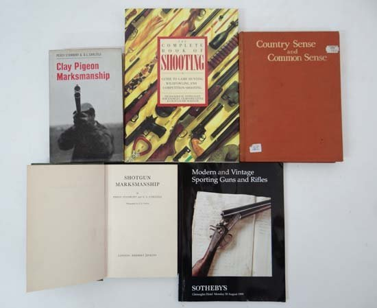 Books : Four books on shooting, including Fid Backhouse