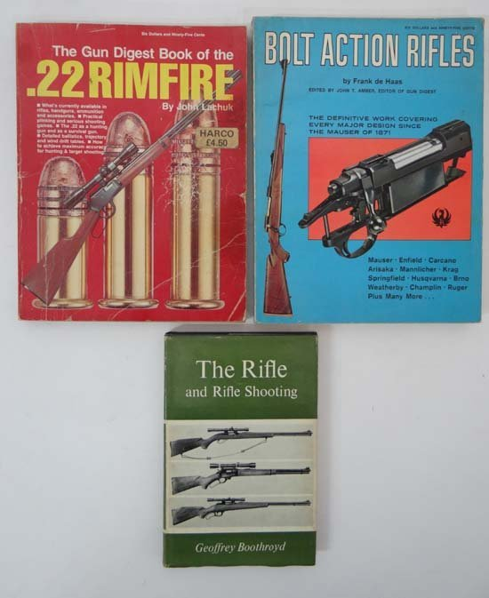 Books : Three books on rifles and shooting comprising G