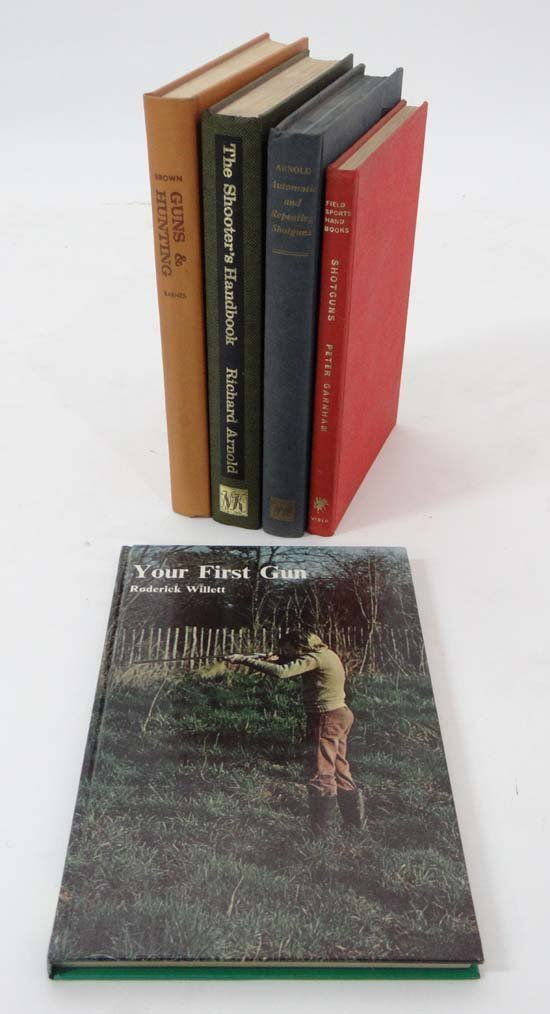 Books : five books on shooting and shotguns comprising