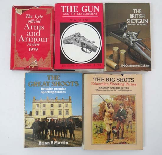 Books : Five books on shotguns and arms, comprising W W