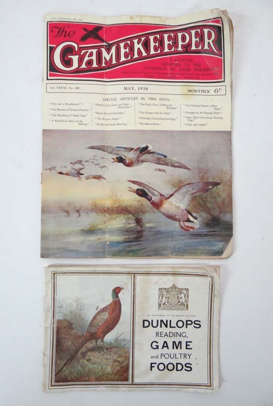 Book Catalogue :An issue of The Gamekeeper May 1938,