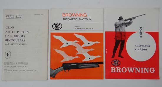 Three c1960s gun catalogues, comprising two from