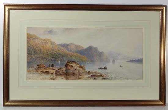F E Jamieson? 1895-1950 Watercolour Northern loch scene