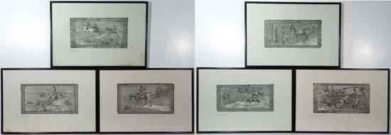 George  Algernon Fothergill (1868-1945) Set of 6 signed