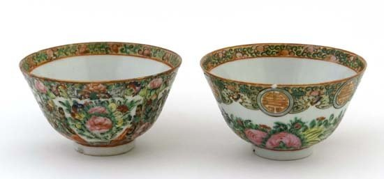 Chinese famille rose bowls decorated in similar