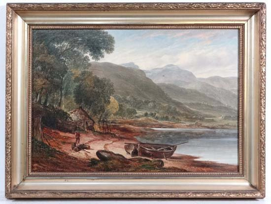 Attrib Samuel Henry Baker ( 1824-1909) Oil on fielded