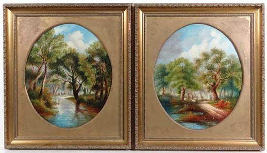 Manner of Thomas Whittle ( XIX ) A pair of oil on