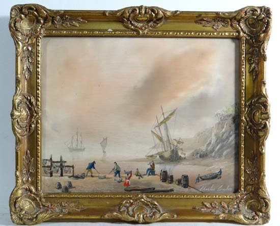 Charles Comber (XX) XIX Marine School Oil on panel
