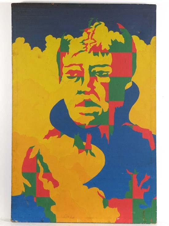 Psychedelic Art  Oil on canvas Portrait of Lou Reed