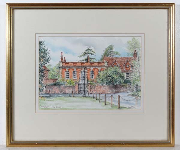 Carol Fisher XX Watercolour ' Hemyngsby - The Close '