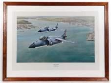 Robert Taylor XX Coloured print ' Sea Harrier ' Titled