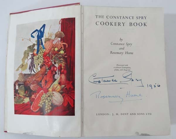 Autographed Book : The Constance Spry Cookery Book by