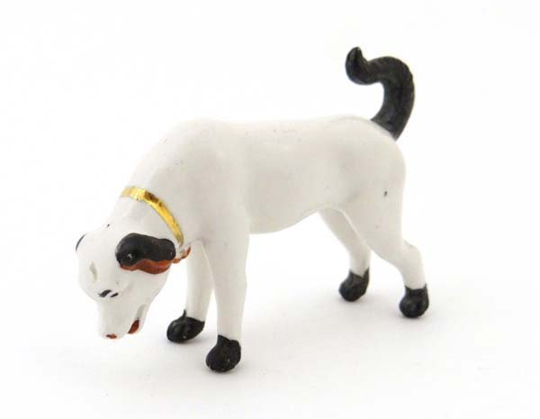 A mid - late 20th C polychrome chinese dog figure. 3