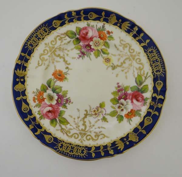 A Crown Staffordshire Fine Bone China Plate. Colourful