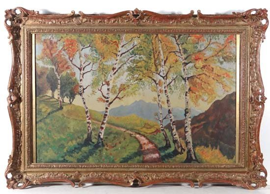 Andre (XX) European School Oil on canvas Silver Birch