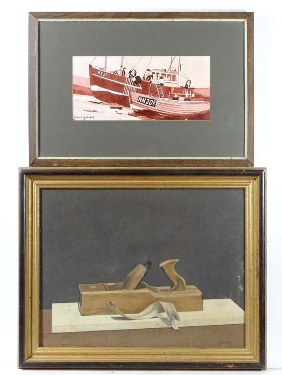 Robert G. Galbraith XX Two paintings, a watercolour and