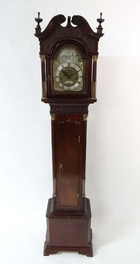 Chippendale Revival Grandmother Clock: T Ogden,