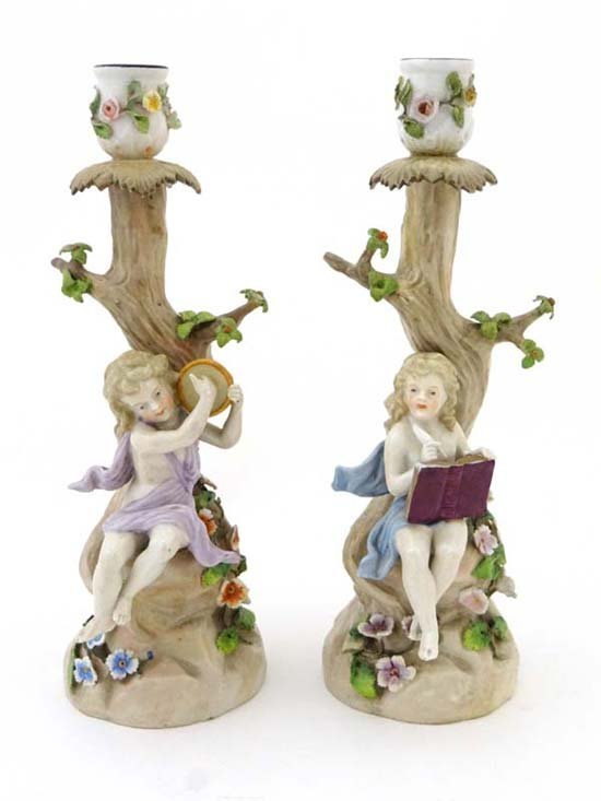 A pair of figural candlestick by Ernst Bohne of