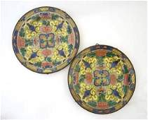 Royal Doulton floral dinner plates 19thC decorative